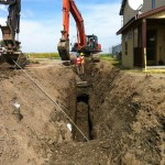North Peace Regional Airort Sanitary and Watermain Upgrades, Fort St John BC LB Chapman Construction